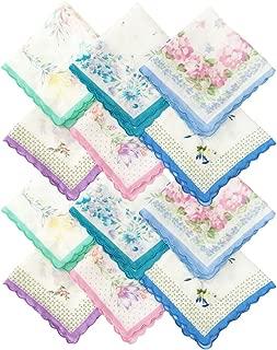 Rosewood Women's Cotton Floral Pattern Handkerchief