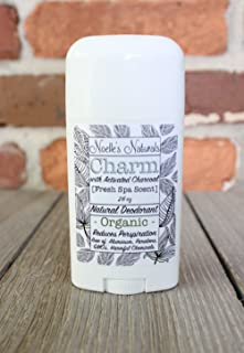 Organic Charcoal Deodorant - Spa Scent -Natural- Aluminum Free - Non-Toxic - Gender Neutral - Gently Controls Sweat & Odor - Bamboo Charcoal