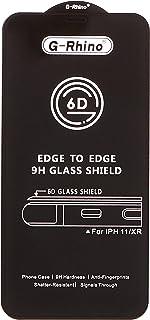 واقي شاشة 6D ضد الانفجار زجاج مقوى بغطاء كامل لاجهزة ايفون اكس اس ايفون اكس 5.8 انش وباطار اسود مع علبة تخزين امنة