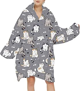 Hoodie Sweatshirt for Women Men Oversize Hoody Sweatshirt Blanket Coats Pullover Christmas Warm Homewear Long Sleeve Hoodi...