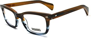 Men Eyeglasses Strong Look Bold Rectangular Clear Lens Two Toned Acetate