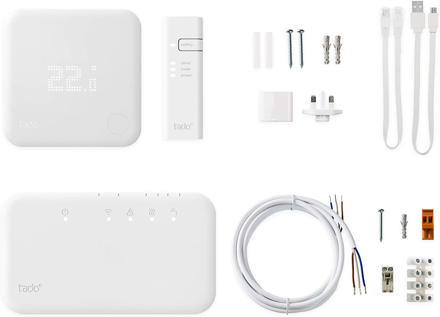 tado/° Wireless Smart Thermostat Starter Kit V3+ with Hot Water Control Improved Version: Easier Installation Process Siri and Google Assistant works with Alexa