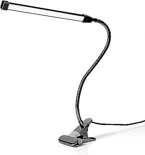 クリップライト led デスクライト 卓上ライト 読書灯 ベッドライト ナイトライト 3段調色(暖色/昼光色/白色) 10段調光 USB式 700lm 8W 80個LED 360°回転 レキシブルアーム 長寿命50000時間 省エネ 明るい 目...