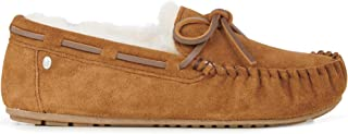 Amity Denim Womens Moccasins Slippers Sheepskin