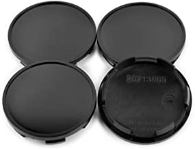 Rhinotuning 65mm/59mm ABS Black Wheel Center Hub Caps Set of 4 for TSW Wheel 2003 Jetta Rim