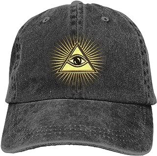 Pyramid All-Seeing Eye Adjustable Cowboy Caps Trucker Baseball Hats Women Mens
