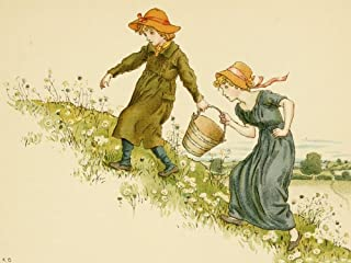 Posterazzi An April Baby's Book of Tunes 1900 Jack and Jill Poster Print by Kate Greenaway, (18 x 24)