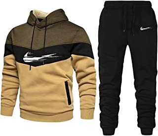 Tracksuit for men sets 2 pcs winter fleece outfits sweatsuits sports athletic Jogging long sleeve casual adult fashion hoodie