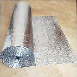 断熱ボード 断熱材 保護 カバー サーモ アルミ保温シート 反射断熱シート アルミ箔接着保護粘着断熱フィルム配管用/車/屋根 アルミ蒸着 両面 (Size : 1*25m)