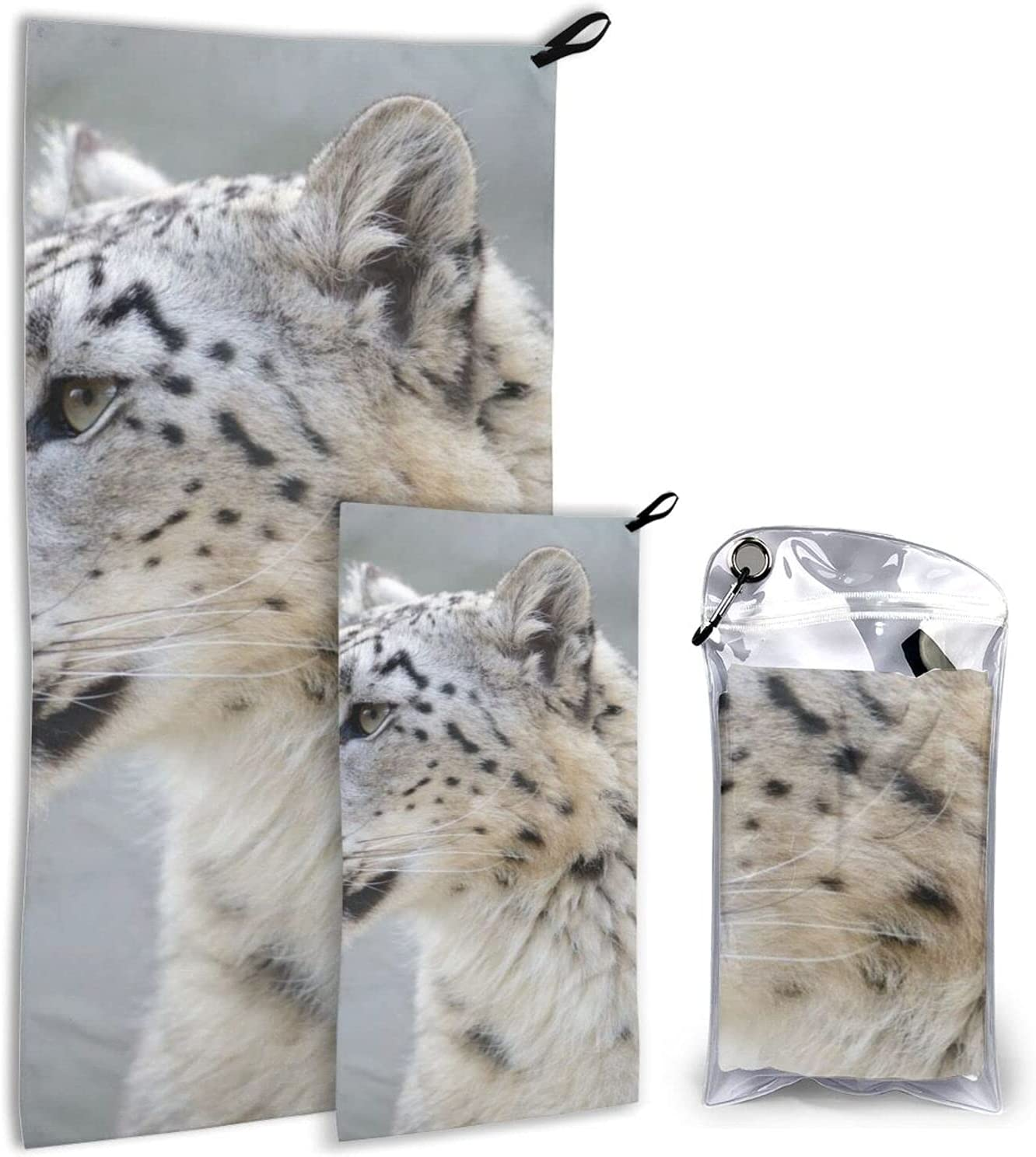 BTMGJKEY Snow Leopard Beach Towel Max 53% OFF Set 2 and of Soft Breathable 70% OFF Outlet