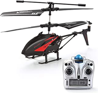 GoStock RC Helicopte, Remote Control Helicopter with Gyro and LED Light 3.5 Channels Alloy Mini Helicopter Micro RC Helicopter Toy for Kids & Adult Indoor and Outdoor