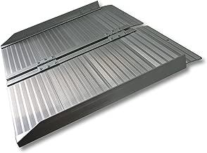 WilTec Rampa Silla Ruedas Plegable 183cm 270kg Aluminio portátil Minusválidos Acceso Sin barreras Plana