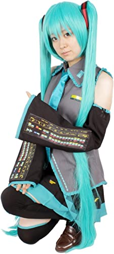 10 point full set wig with hair net leek with Hatsune Miku cosplay costume S Größe (japan import)