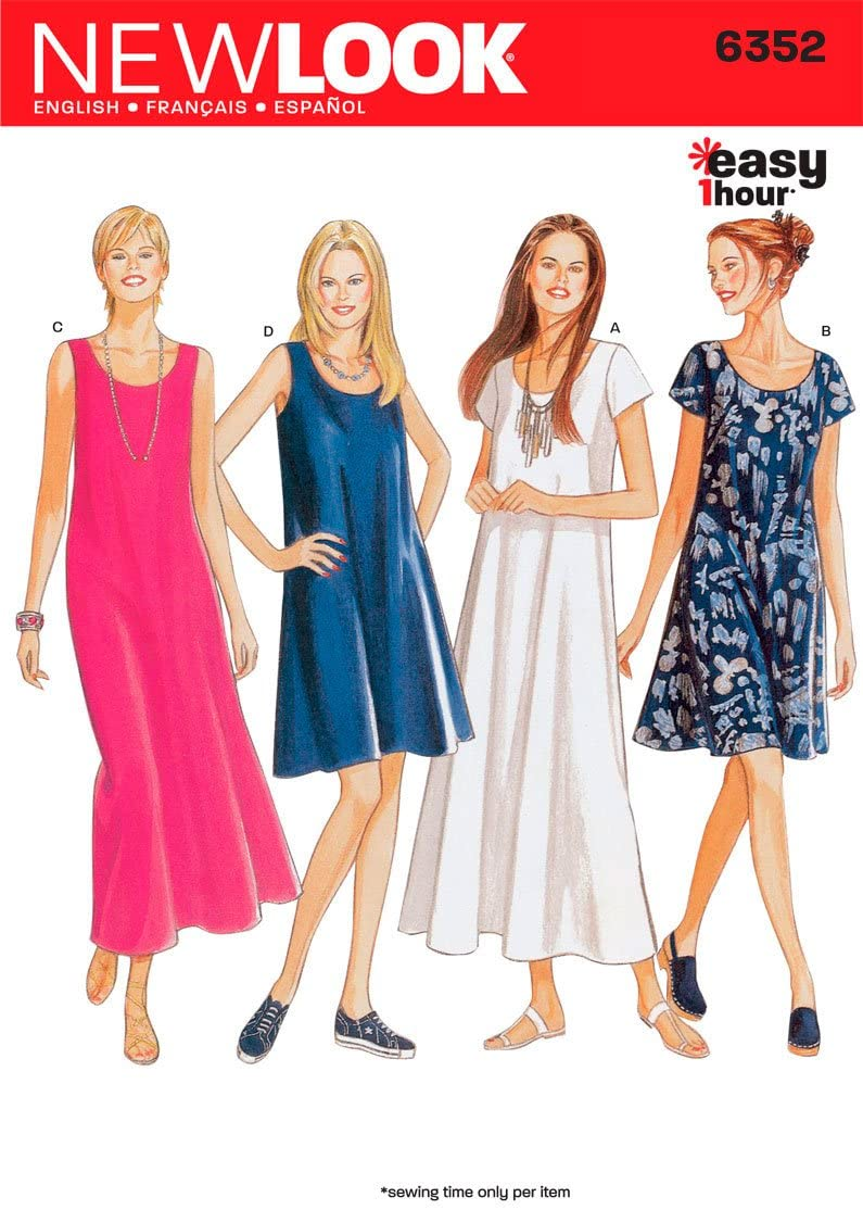 New Look Sewing Pattern 6352 Size Misses A 8-10-12-14- Max 54% 2021 OFF Dresses