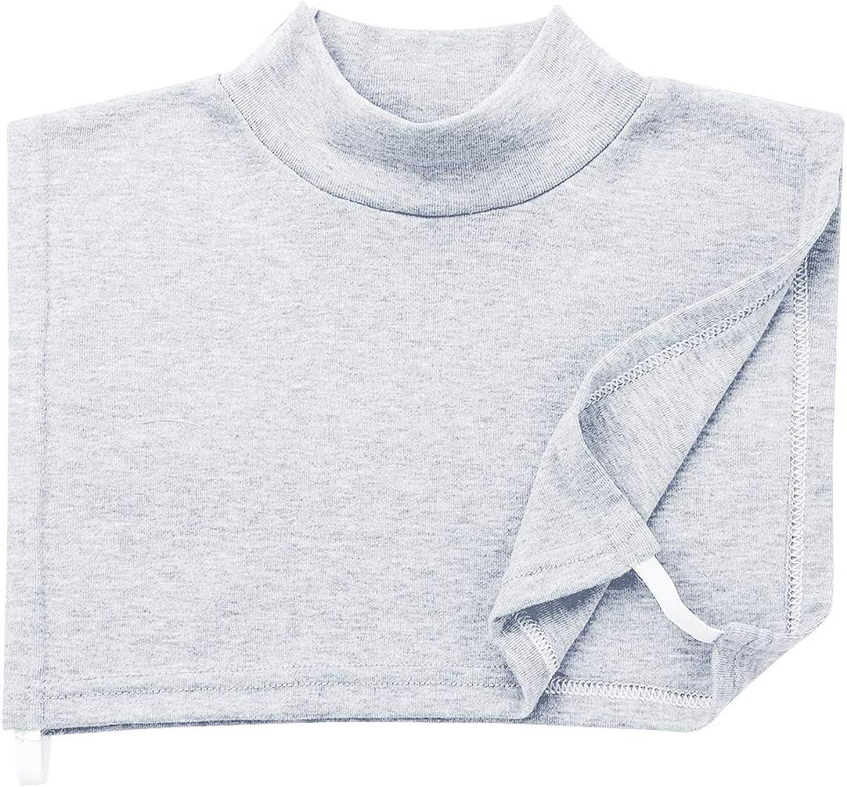 iixpin Modischer Damen Krageneinsatz Abnehmbare Blusenkragen Rollkragen Warm Einsatz Falsche Kragen aus Baumwolle Grau(typ A)