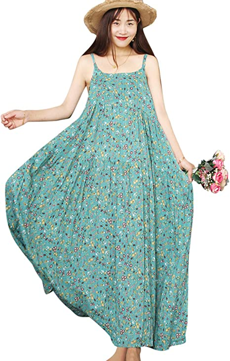 long green floral summer dress compliments