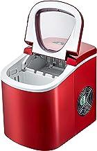 VEVOR Machine à Glaçons Portable 12kg par 24H Mini Commercial Ice Maker avec LCD (Rouge)
