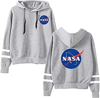 EMILYLE Unisex NASA Logo Women Hoodie National Space Administration Fashion Sweatshirt