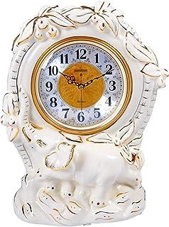Alarm Clock 13. 7 بوصة من الطاولة السيراميك على مدار الساعة العربية الأرقام العربية كتم ساعة ساعة بيضاء مانتل ساعة بطارية ...