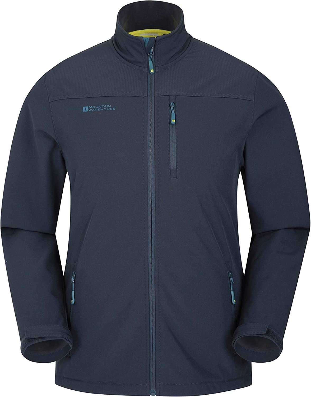 Mountain Warehouse Grasmere Mens Softshell Jacket -Breathable Raincoat