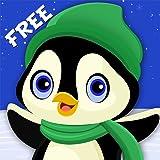 ペンギン冬の楽しみ:スノーボードスポーツクレイジーコールド・レース - 無料