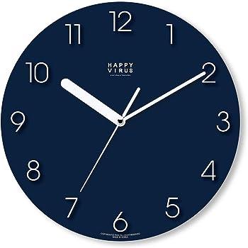 "Happy Virus MDF Non-Ticking Silent Quartz Decorative Modern Round Wall Clock Deco Decor 11.2"" (Battery not Included)… (5019)"