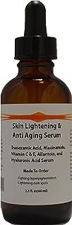 Skin Lightening & Anti Aging Serum w/Tranexamic Acid, B3, Allantoin, and Hyaluronic Acid (2.3oz)