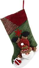 VICASKY 1 meia de Natal de flanela para presente de doces, meias para pendurar na árvore de Natal para decoração de festa ...