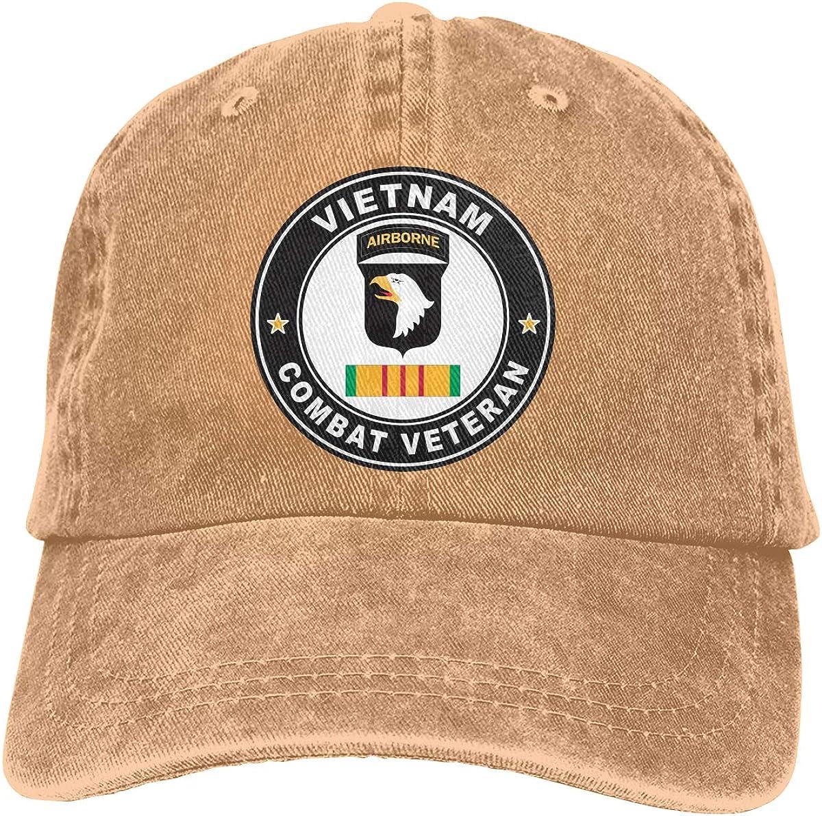 SLISL EIEI US Army 101st Airborne Division Vietnam Combat Veteran Adjustable Baseball Caps Denim Hats Cowboy Sport Outdoor