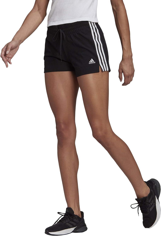 adidas Women's Essentials Slim 3-Stripes Shorts : Sports & Outdoors