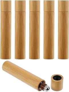 HEALLILY 6Pcs 10Ml Bamboe Roll Op Fles Draagbare Essentiële Oliën Roller Fles Accessoires Voor Reizen