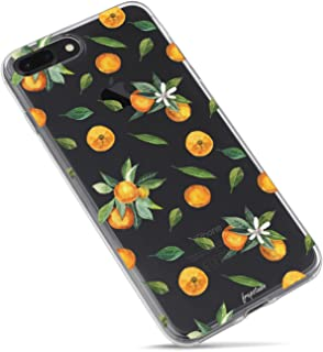 iPhone 6 Case,iPhone 6s Case,Orange Lemon Girls Cute Funny Fruits Vacation Series Hipster Aloha Summer Tropical Hawaii Sweet Tangerines with Leaves Daisy Soft Transparent Case for iPhone 6s/iPhone 6