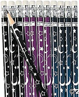 24 - Moon and Stars Pencils - #2 Lead - 7.5 inch - New