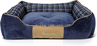 Scruffs Dog Highland Box Bed, Large, Blue