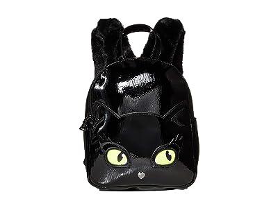 Betsey Johnson Resting Kitsch Face Backpack (Black) Backpack Bags