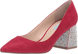 Blue by Betsey Johnson Women's SB-Paige Pump, Red Suede, 7 M US