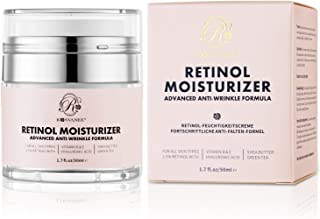 ROSVANEE Retinol Moisturizer Anti Aging Cream for Face, Neck and Eye with 2.5% Retinol, Hyaluronic Acid and Vitamins E & B5, Anti Wrinkle Deep Hydration Cream for Men & Women