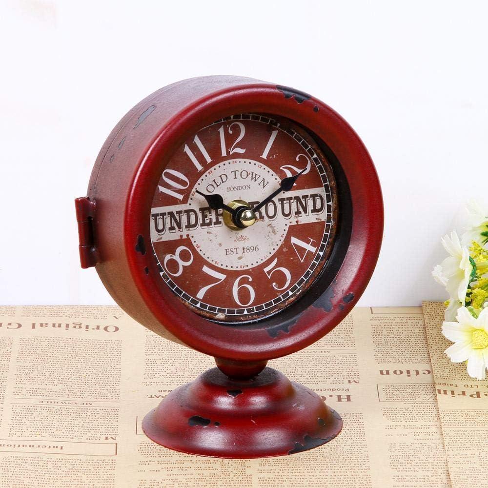 SXZHDZ Mantel Clock Creative Retro Single Clock Bedroom Decoration Crafts Clock 13x13x16.5cm