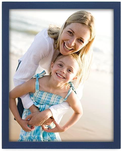 Malden International 设计深蓝色概念木质相框 8 英寸乘 10 英寸