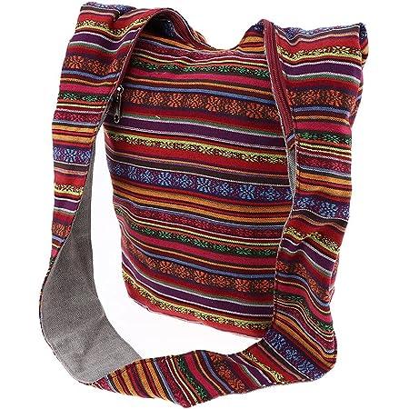 Bohemian Handtasche Schultertasche Crossbody Tasche Schulterbeutel mit Reißverschluss - Rot
