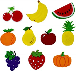 XHAOYEAHX Cute Fruits Vegetables Stereo Refrigerator Fridge Magnets for Kids Activity Home Decoration Funny Stickers a Set of 10 Pieces