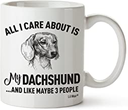Dachshund Mom Gifts Mug Women Men Dad Decor Lover Decorations Stuff I Love Dachshunds Coffee Merchandise Accessories Talking Art Apparel Funny Birthday Gift Home Supplies Products Dog Coffee Cup Mugs