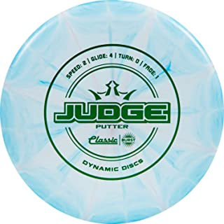 Dynamic Discs Classic Burst Judge Disc Golf Putter | Throwing Frisbee Golf Putter | Stable Disc Golf Flight | Beaded Disc Golf Putter | Stamp Colors Will Vary