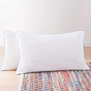 Paquete de 2 almohadas de Memory Foam triturado Linenspa: moldeables, esponjables y personalizables; comodidad universal, ...