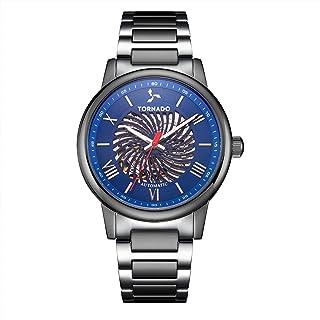 TORNADO Men's Analog Blue Dial Watch - T20307-YBXL