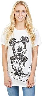 Disney Women's Mickey Forward Sketch T-Shirt