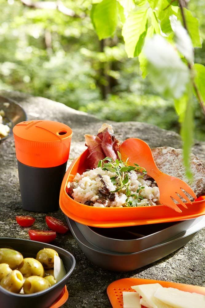 Cutting Board Cup Light My Fire 8-Piece BPA-Free Meal Kit 2.0 with Plate Bowl Spork and More