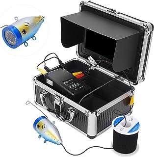 Cámara de pesca submarina de 7 pulgadas, cámara Ccd hd de 1000tvl a color con pantalla a color Tft y 12 luces LED blancas ...