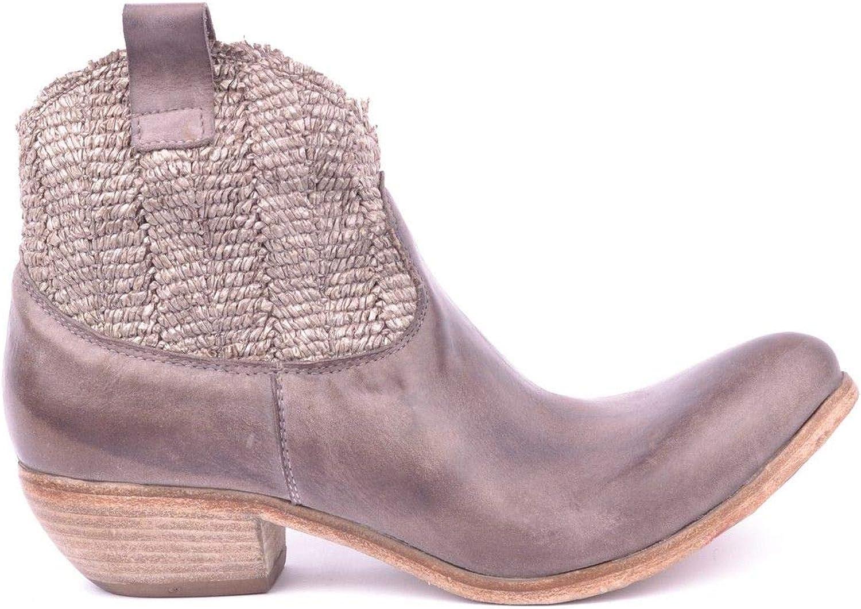 SAVIO BARBATO Women's MCBI16400 Grey Leather Ankle Boots