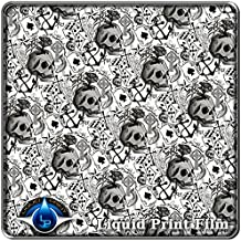 Water Transfer Printing Film LL-490 Hydro Dipping Hydrographic Film Lucky Skulls